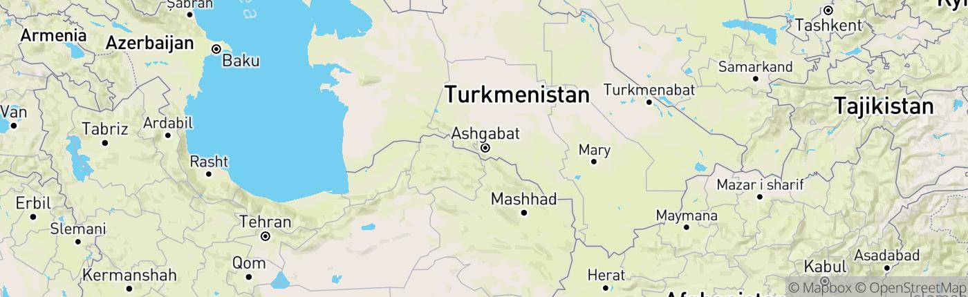 Mapa Turkmenistan