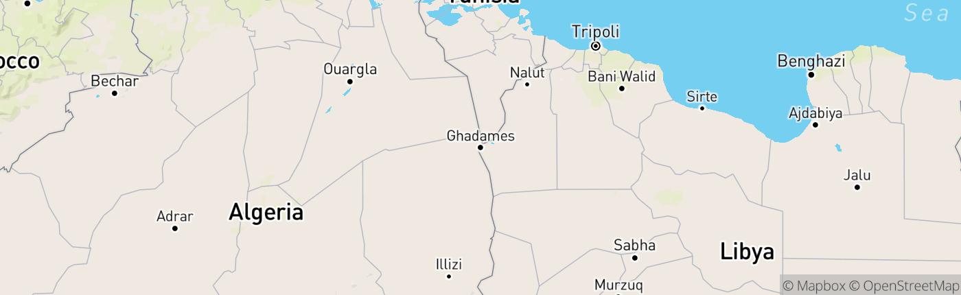 Mapa Líbya