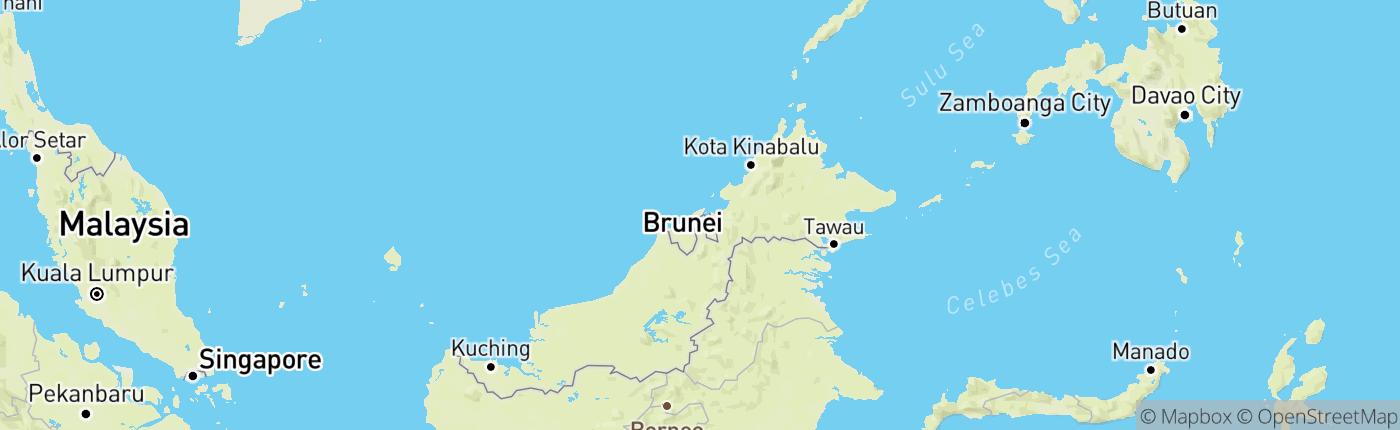 Mapa Brunej