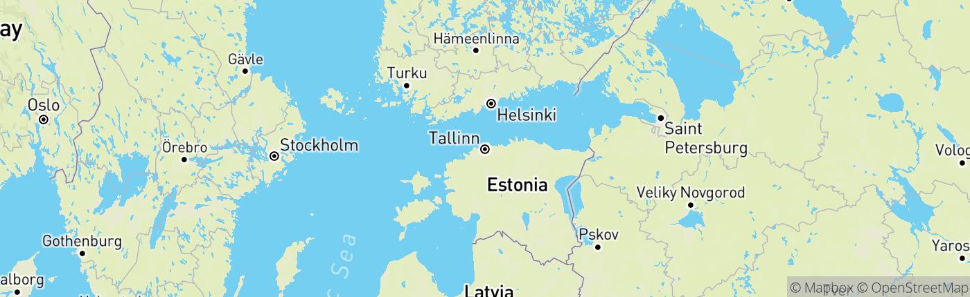 Mapa Estónsko