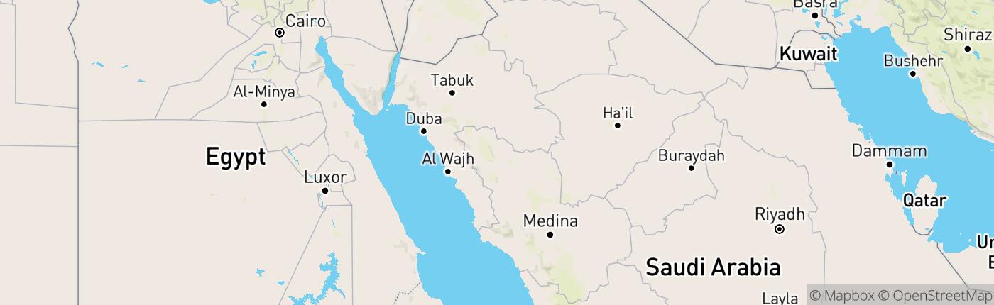 Mapa Saúdská Arábie