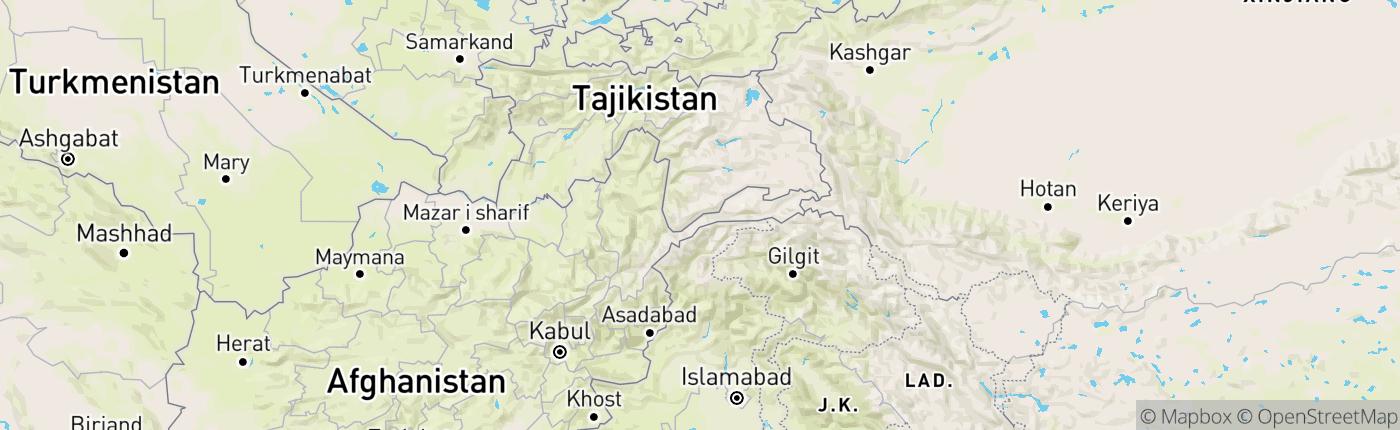 Mapa Tadžikistan
