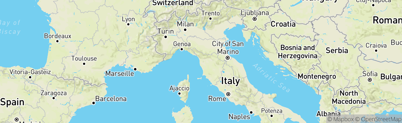 Mapa Taliansko