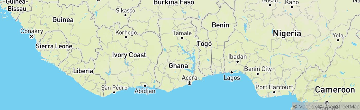 Mapa Ghana