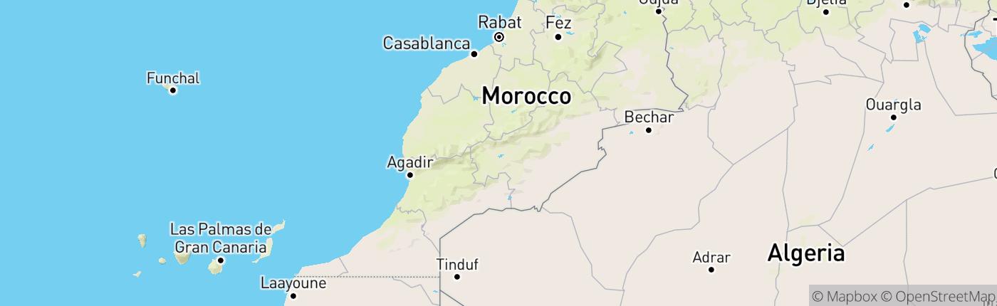 Mapa Maroko