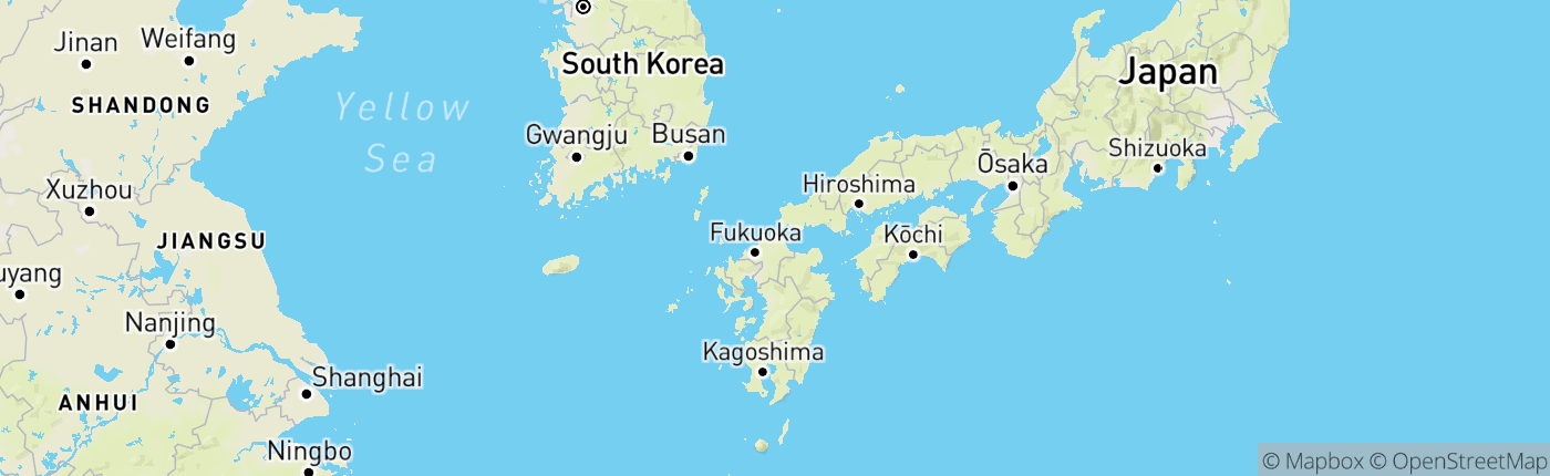 Mapa Japonsko