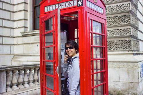 Telefonovanie v Londýne