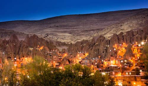 Iránske mesto v skalách