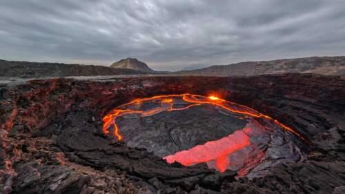 Sopka v Etiópii