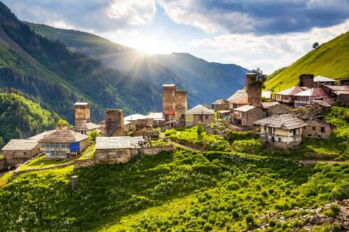 Ushguli, Kaukaz