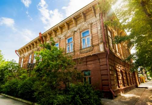 Drevené domy na Sibíri