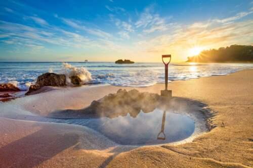 Pláž s termálnou vodou