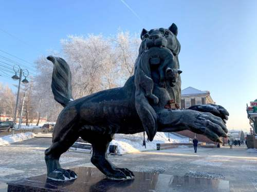 Socha tigra, Irkutsk
