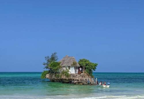 Reštaurácia na skale, Zanzibar