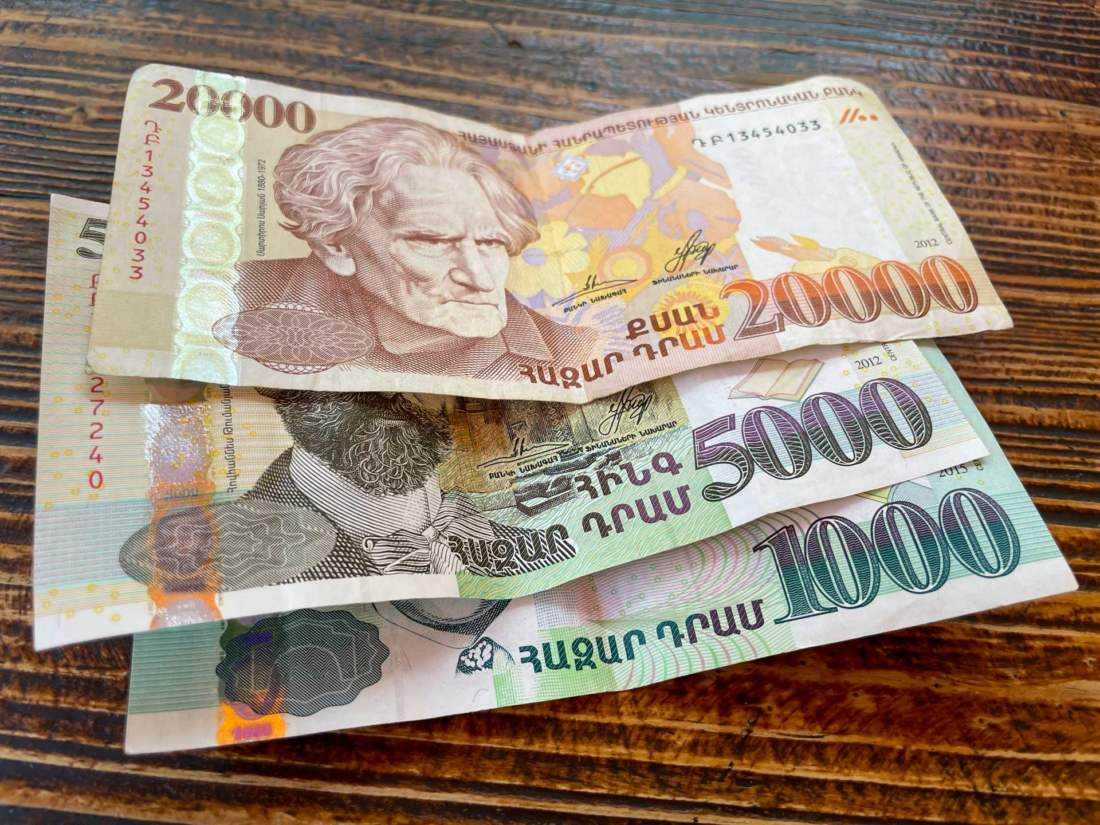 Arménske peniaze