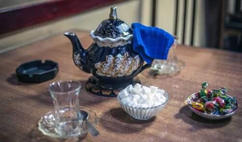 čajovňa v Tbilisi