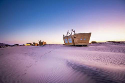 Ubytovanie vo vraku, Namíbia